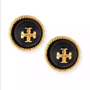 New Tory Burch logo design gold stud earring